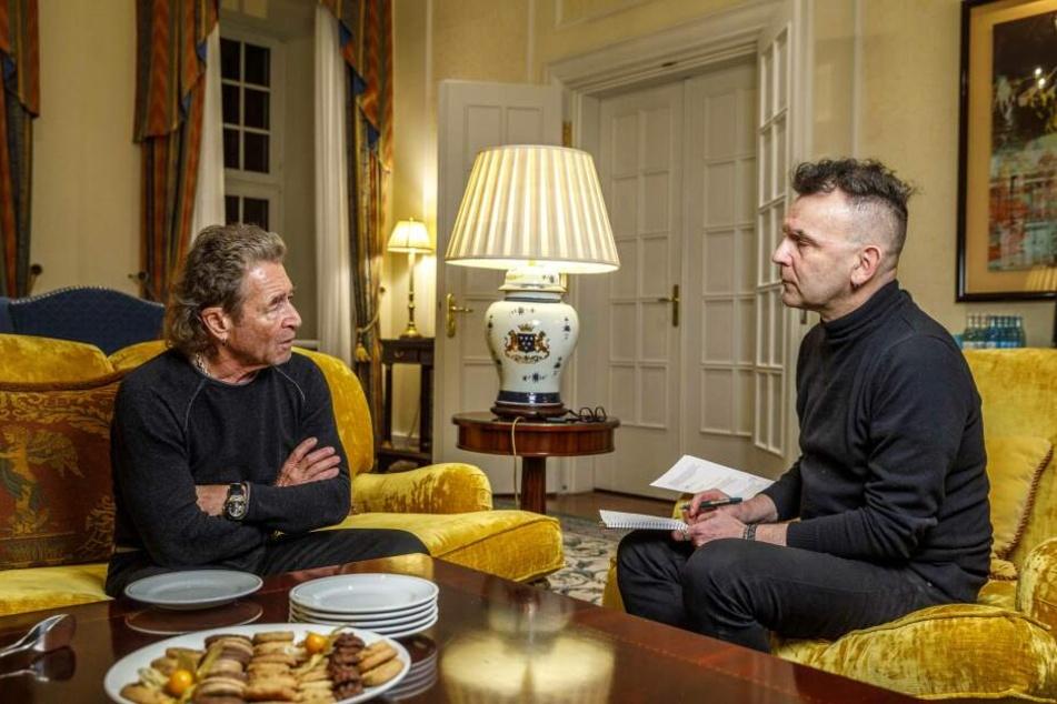 TAG24-Redakteur Heiko Nemitz im Gespräch mit dem Rockmusiker.