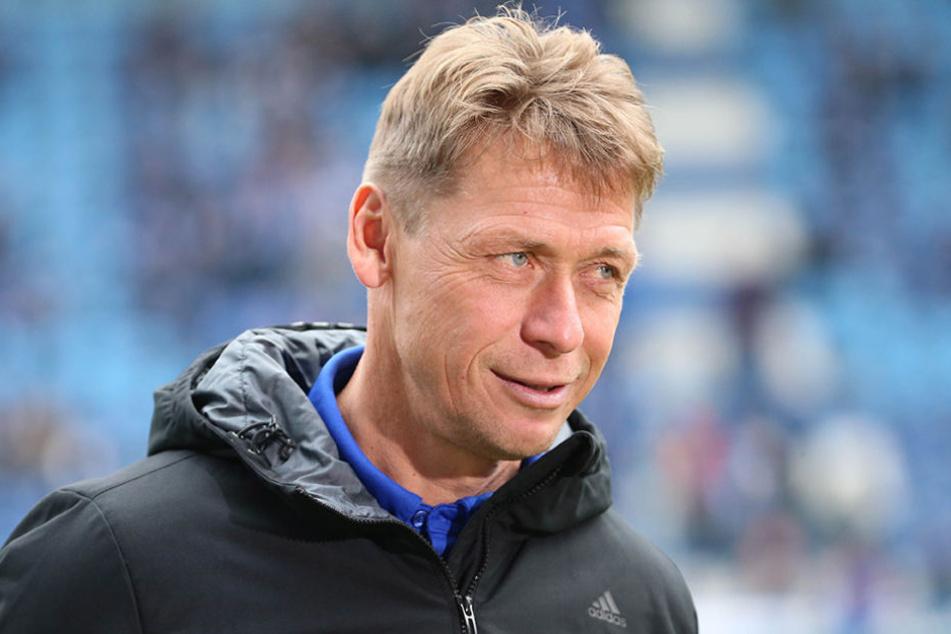 Sichtlich zufrieden: CFC-Trainer Sven Köhler.