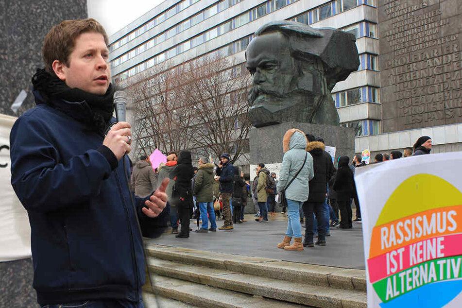 Juso-Chef Kühnert fordert in Chemnitz Mut im Kampf gegen Rassismus