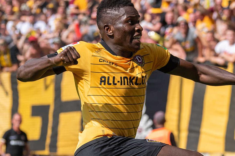 Moussa Koné und die SGD treffen am morgigen Mittwoch auf den Halleschen FC.