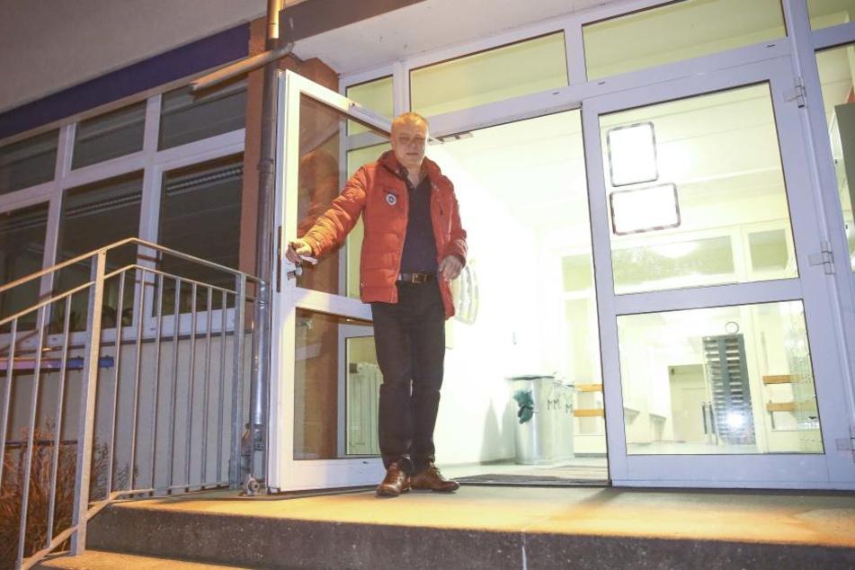 Frank Haubitz ist zurück am Gymnasium in Klotzsche.