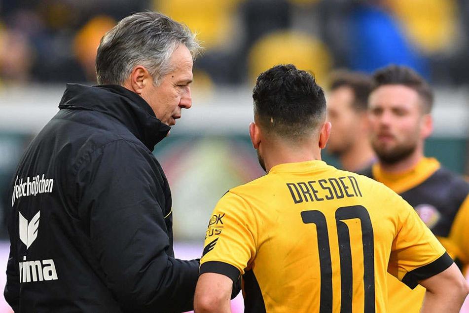 Plan aufgegangen! Dynamo-Coach Uwe Neuhaus lag mit der Aufstellung von Aias Aosman richtig.