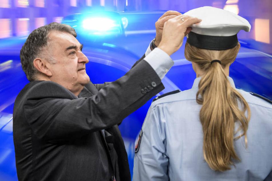 In Berlin steht die Mindestgröße für Polizei-Anwärter auf dem Prüfstand. (Bildmontage)