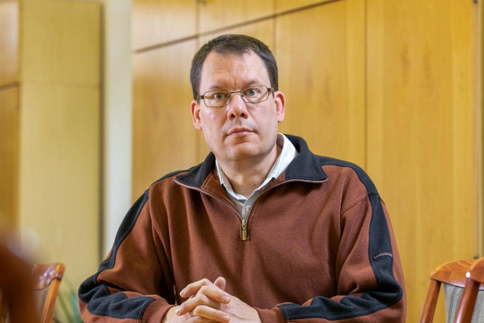 Hält den Höhepunkt der Mäuseplage für noch nicht erreicht: Andreas Jahnel (49), Ackerbau-Experte des Landesbauernverbands.