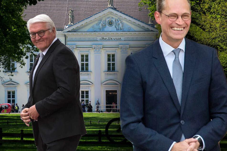 Müller allein zu Haus: Wenn Steinmeier mal Sonne tankt, kümmert sich Berlins Regierender Bürgermeister um die Amtsgeschäfte. (Bildmontage)