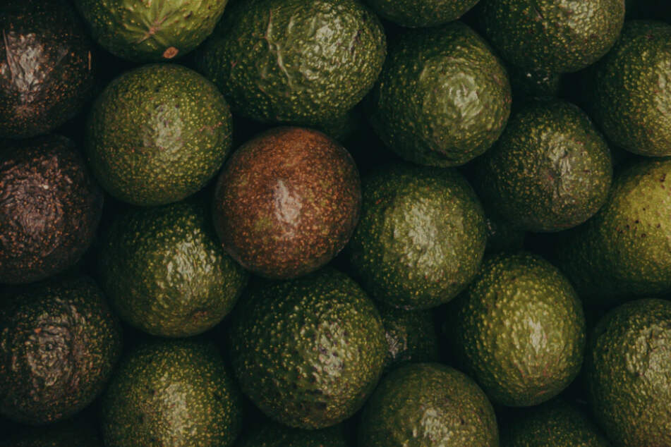 Depending on the type, avocados can have a light green or dark green peel.