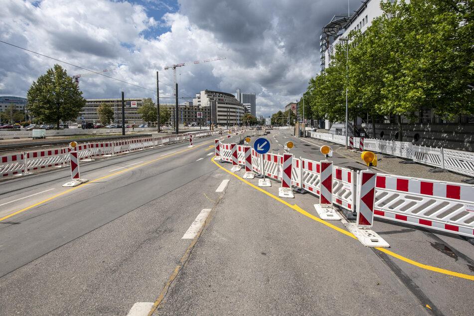 Nervig, aber notwendig: Eine Baustelle in Chemnitz im Juli 2020 an der Augustusburgerstraße (Foto: Ralph Kunz).