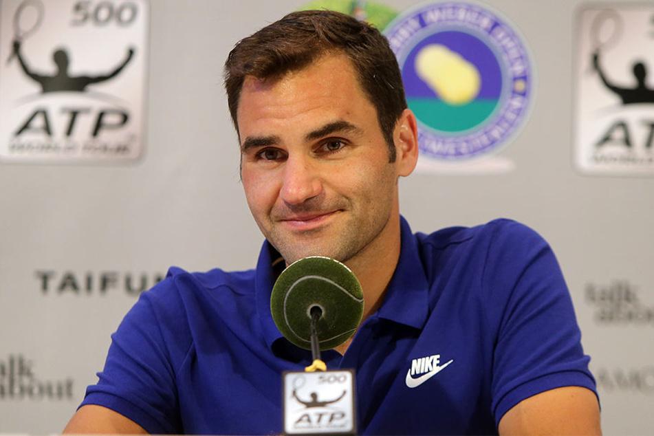 """Bei den Gerry Weber Open in Halle Westfalen ist Tennis-Superstar Roger Federer ein """"Heim-Spieler"""" und verkündet: """"Es ist ein Gefühl, als ob ich nach Hause komme""""."""
