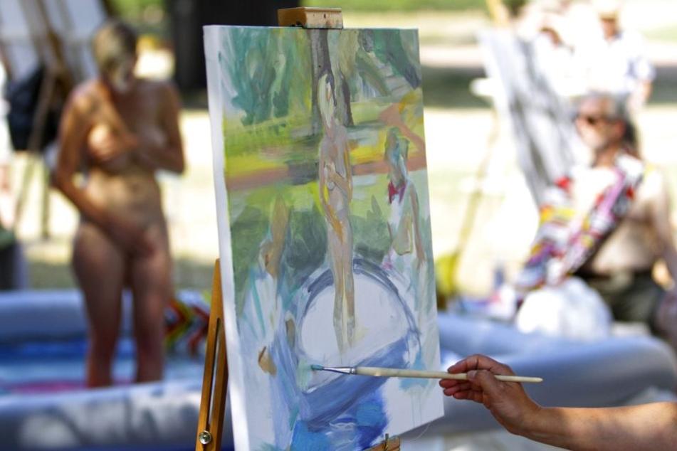 Die Aktmalerei gehört alljährlich zu den Höhepunkten des Palais Sommers.