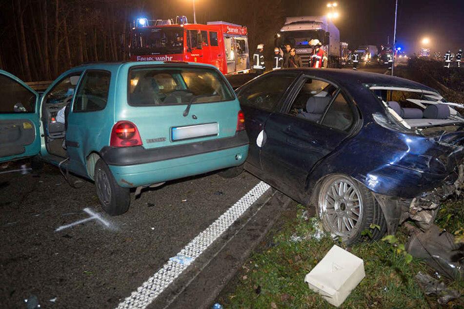 Massen-Crash mit sechs Autos endete mit 15 Verletzten