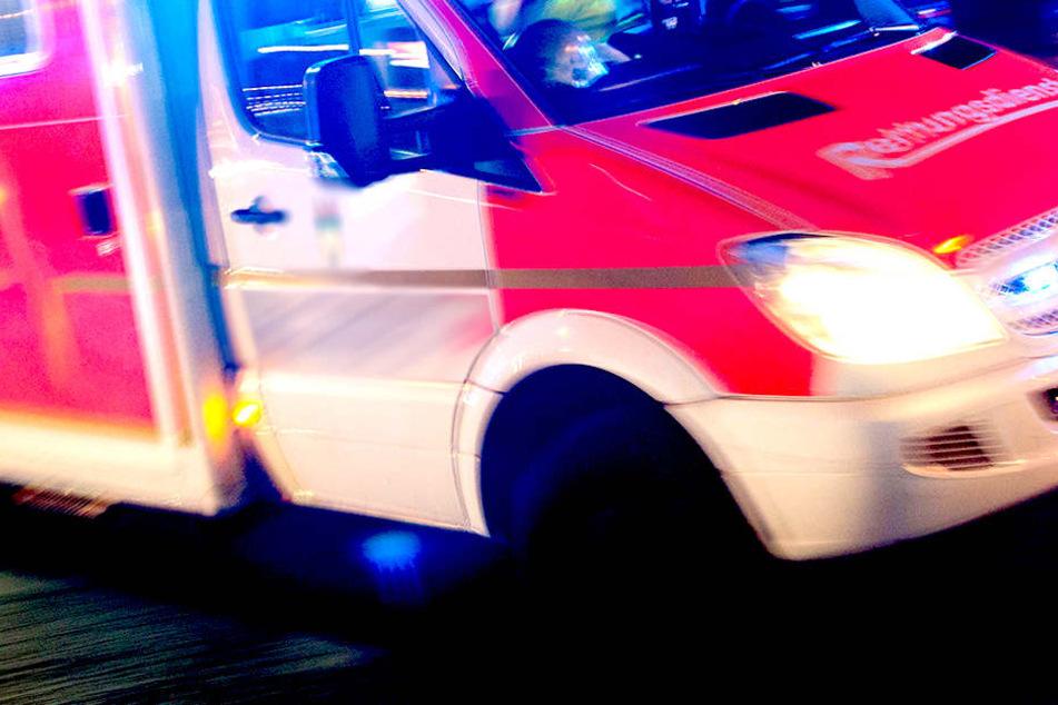 Streifenwagen kracht gegen Haus: Polizist schwer verletzt