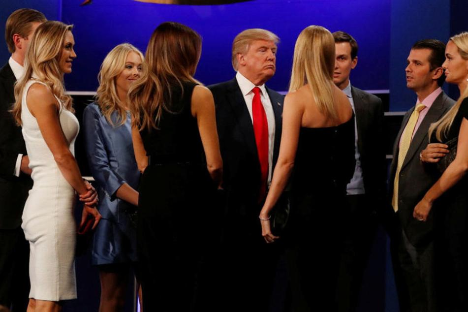 Donald Trump bekam von seiner Familie und Berater Glückwünsche nach dem TV-Duell.