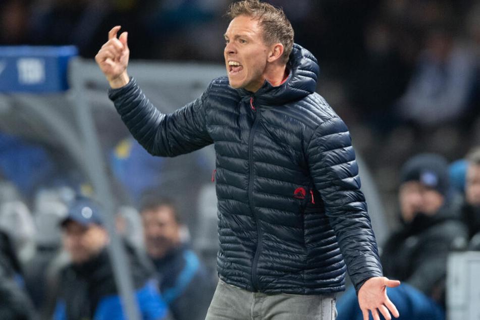 Will auch am heutigen Samstag wieder drei Punkte holen: RB-Trainer Julian Nagelsmann.