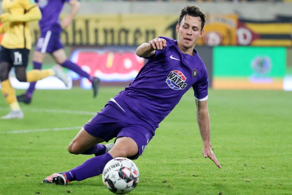 Clemens Fandrich will mit seinen Veilchen gegen Dynamo wieder vollen Einsatz zeigen.
