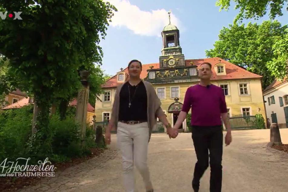 Denny (35, aus Berlin) mit seinem Jörg (52).