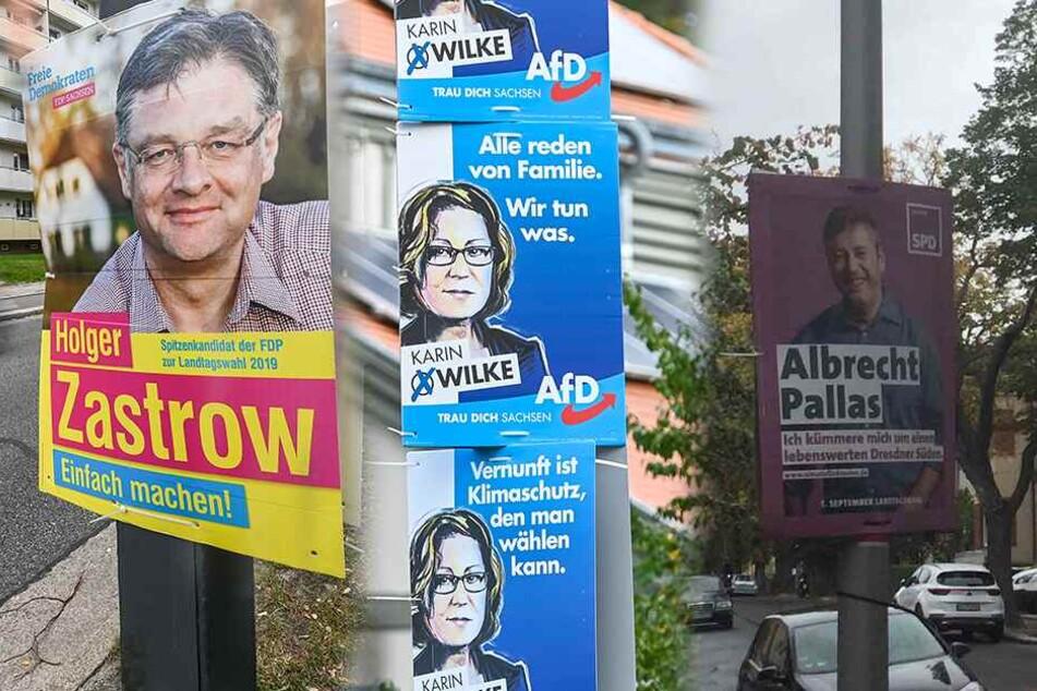Geklaute Wahlplakate hängen plötzlich wieder im Stadtgebiet