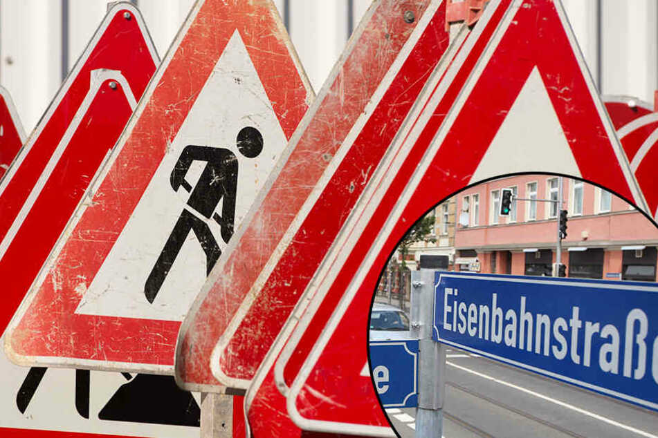 Wegen Gleisarbeiten wird die Eisenbahnstraße zwischen Torgauer Straße und Hermann-Liebmann-Straße für Autofahrer bis zum 1. Dezember nicht befahrbar sein.