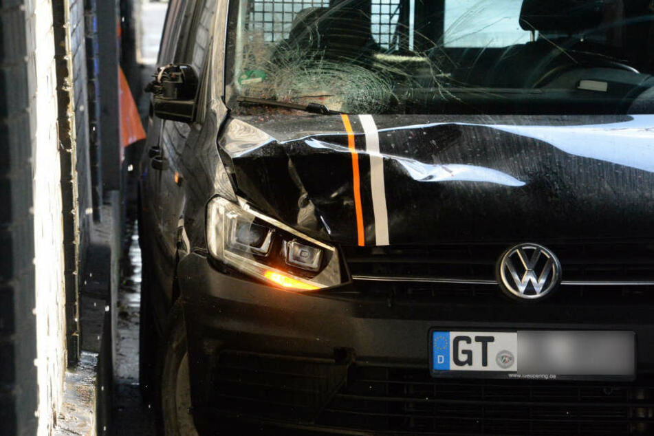 Mit diesem VW überfuhr der 76-Jährige den Fußgänger.