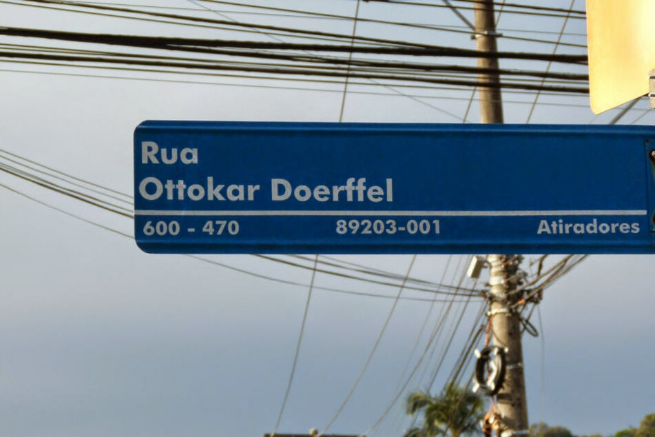 Auch ein Straßenname ehrt den deutschen Einwanderer.