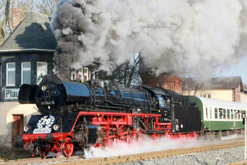 Unter Volldampf ging es am Samstag von Erfurt in Richtung Rennsteig.