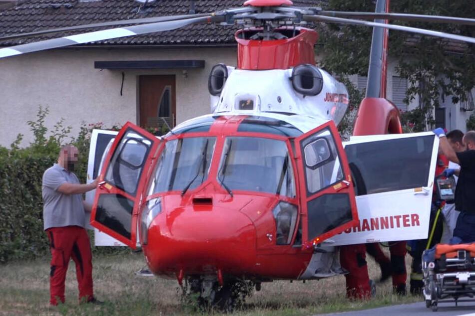 Zwei Rettungshubschrauber waren in Babenhausen im Einsatz.