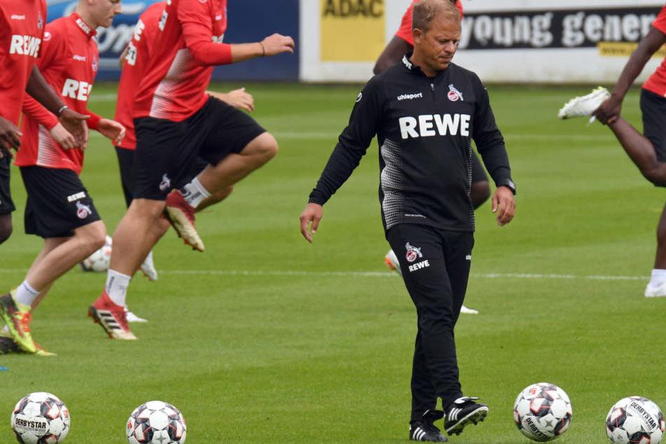Beim zweiten Testspiel seiner neuen Mannschaft dürfte FC-Trainer Markus Anfang nicht alles gefallen haben (Archivbild).