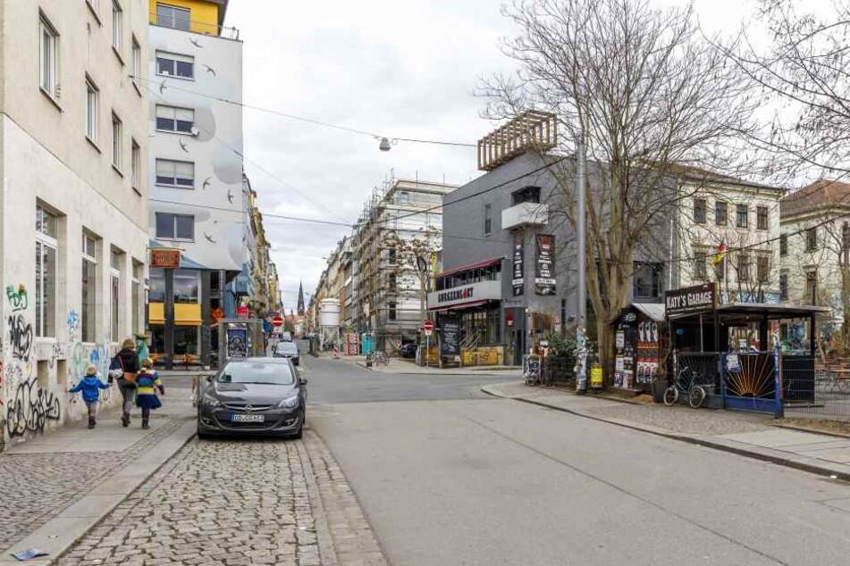 Der Mann wurde jetzt auf der Alaunstraße trotz Verbot angetroffen.