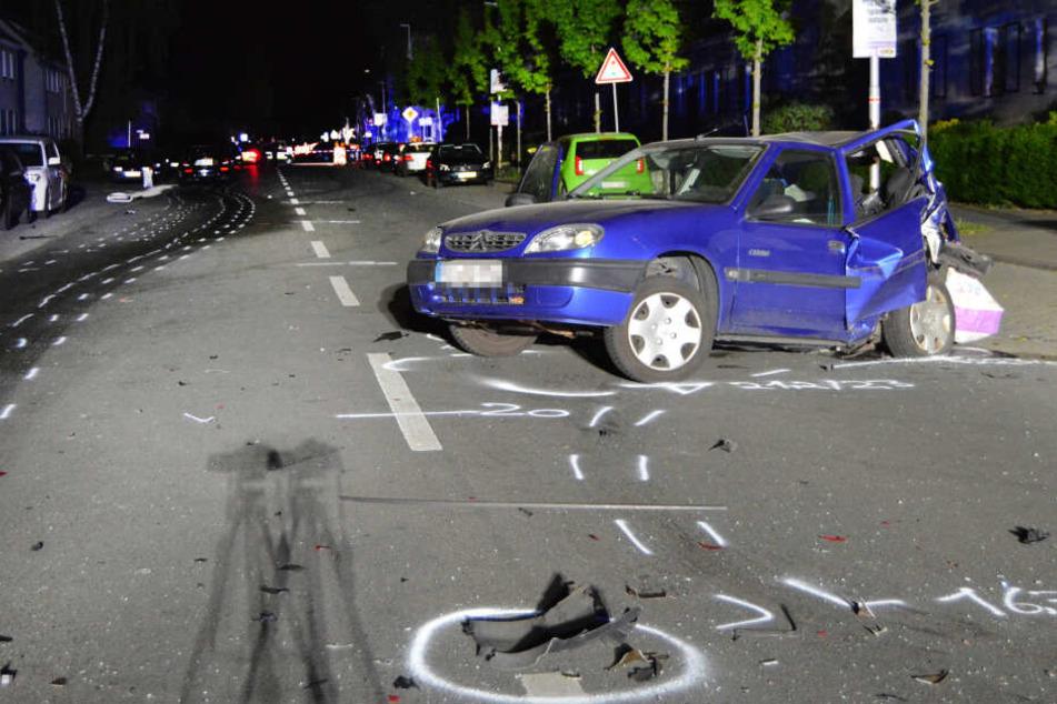 Bei dem Straßenrennen starb eine unbeteiligte Frau.