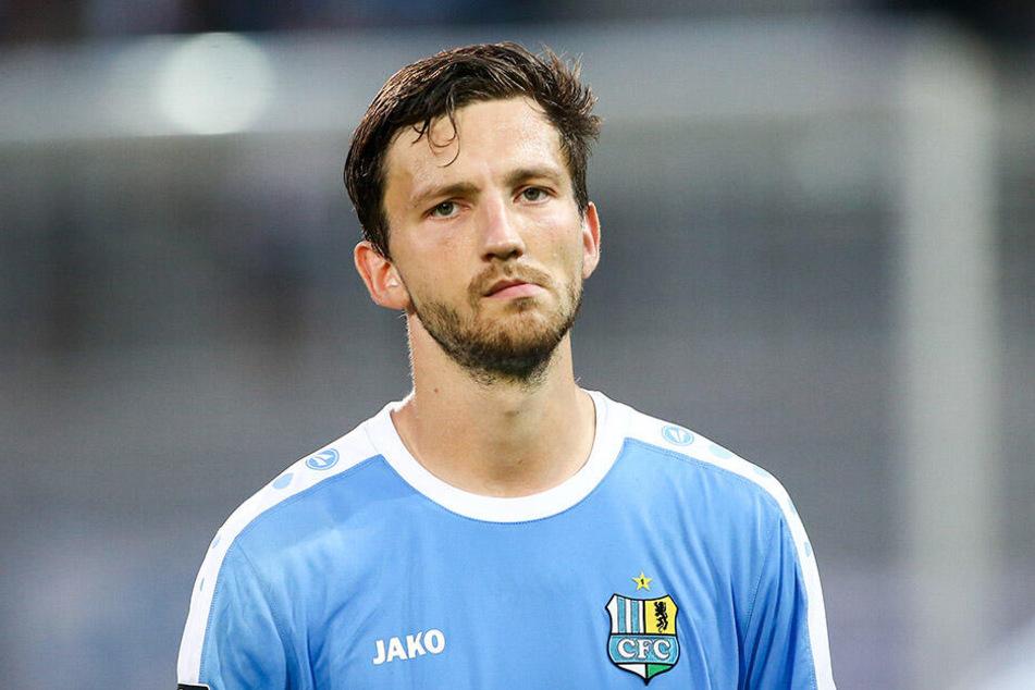 Matti Langer brachte die Chemnitzer gegen Meppen in Führung. Es reichte jedoch am Ende nicht.