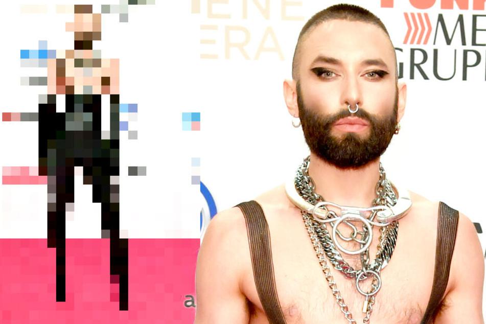Fetisch-Look bei Goldener Kamera: Conchita Wurst stiehlt allen die Show!