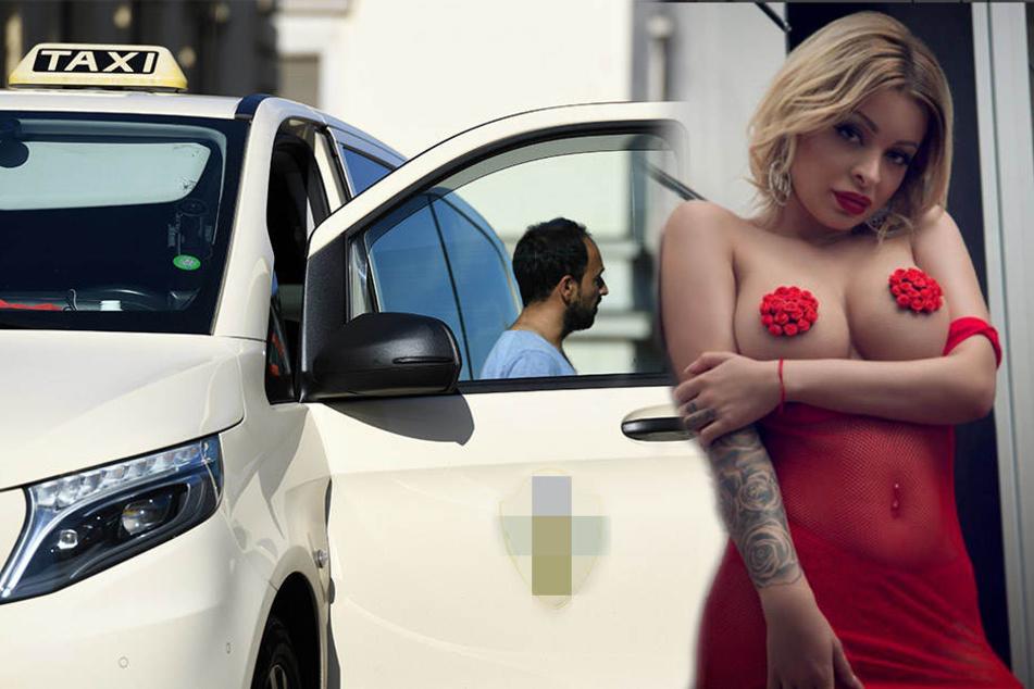 Sollte Erotik-YouTube-Star Katja Krasavice SO ins Taxi gestiegen sein, wäre es kein Wunder, wenn sie angeflirtet wurde.