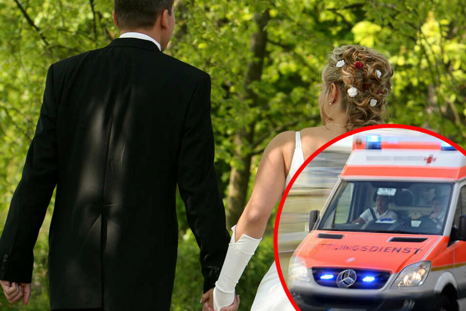 Mann crasht fremde Hochzeit und schubst Seniorin Treppe runter