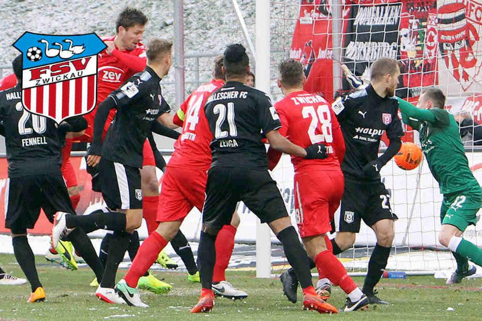 König mit Köpfchen, zwei Platzverweise! FSV schafft nur Unentschieden gegen Halle