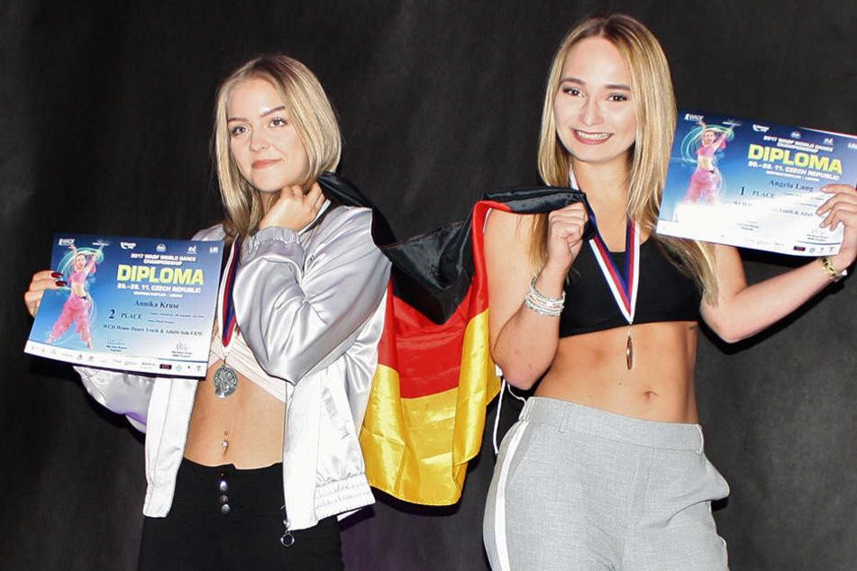 Im Finale setzte sich Angela Lang (24, li.) gegen Annika Kruse (17) durch.