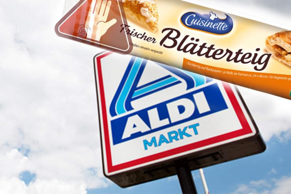 """Aldi ruft diesen Blätterteig von """"Cuisinette"""" zurück. In dem Frischteig könnten Metallteile enthalten sein."""