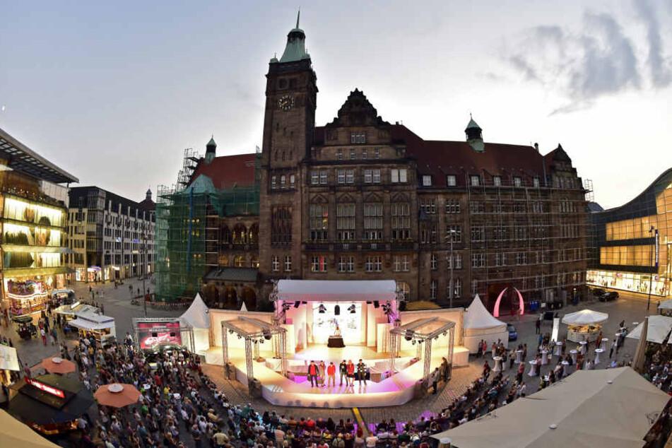 Zu den Chemnitzer Modenächten wird der Neumarkt zum Laufsteg.