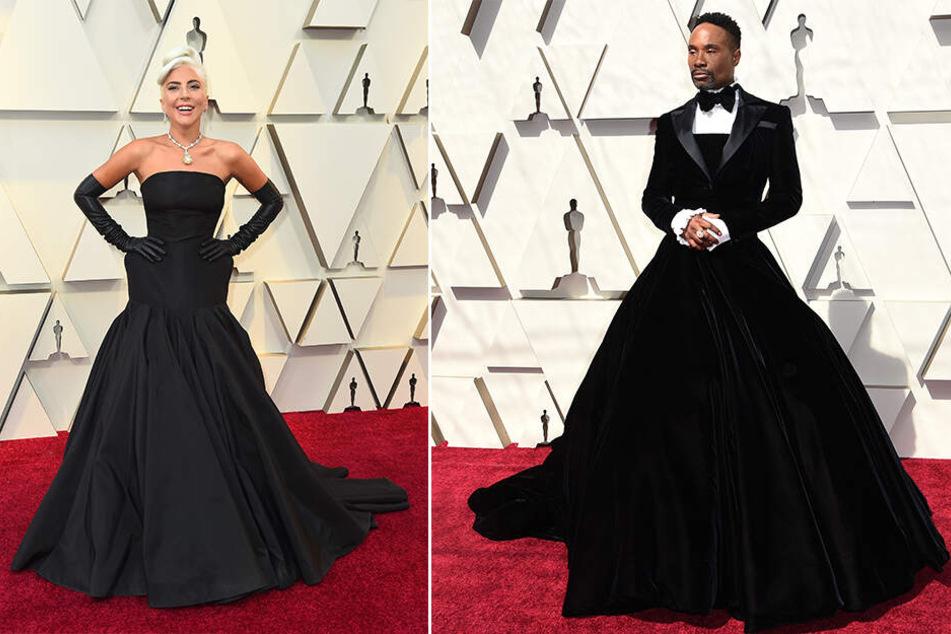 Lady Gaga mit 30-Millionen-Dollar-Kette, Billy Porter im Smoking-Kleid.