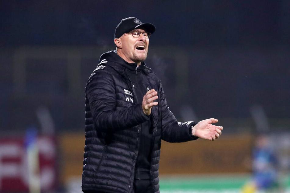 Bis zum Ende der Saison will Wolfgang Wolf die Mannschaft weiter trainieren.