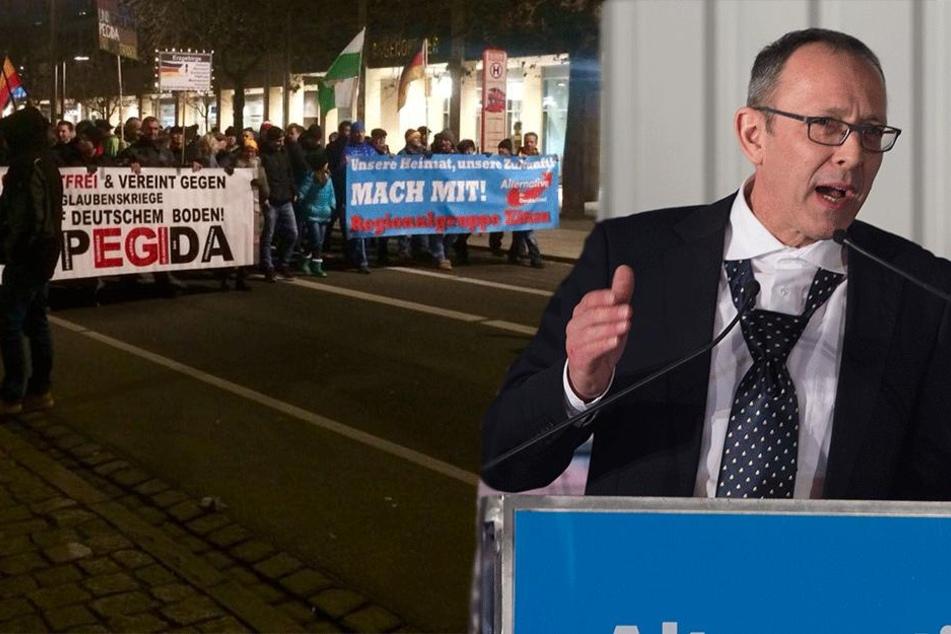 Premiere! Hochrangiger AfD-Funktionär spricht bei PEGIDA