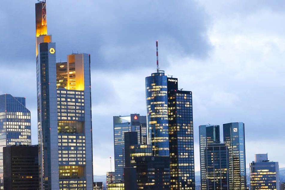 Das Bankenviertel ist das Wahrzeichen von Frankfurt.