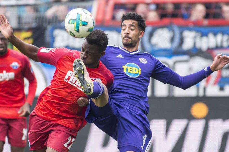 Doppelpacker Christopher Antwi-Adjei war für den VfL Osnabrück nicht zu halten.
