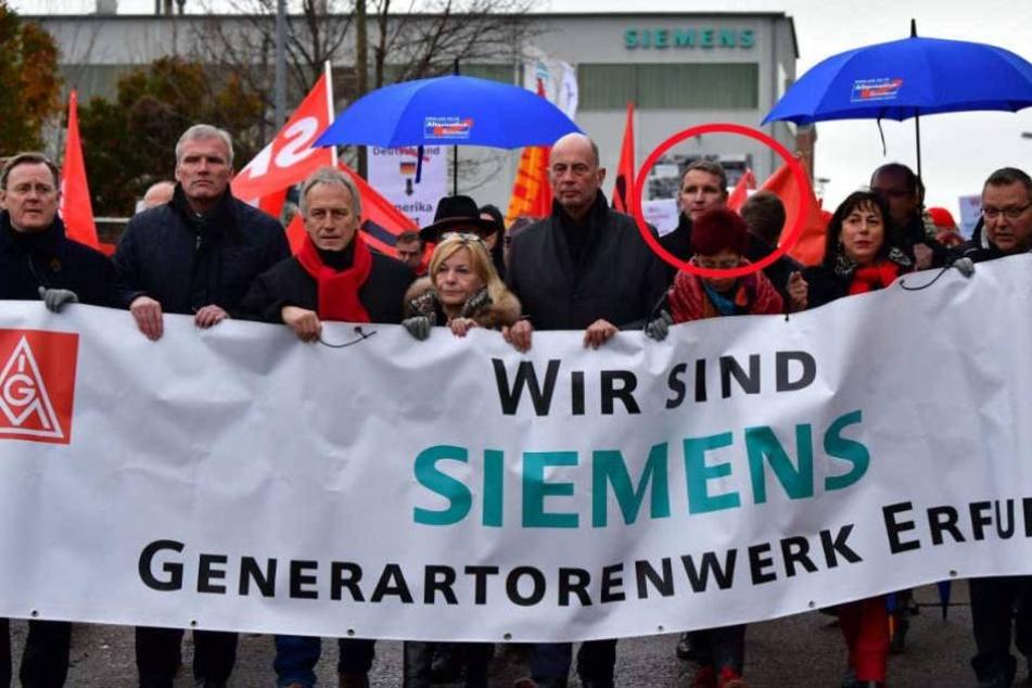 AfD nimmt bei Siemens-Demo teil, doch die Gewerkschaft lässt sich das nicht gefallen