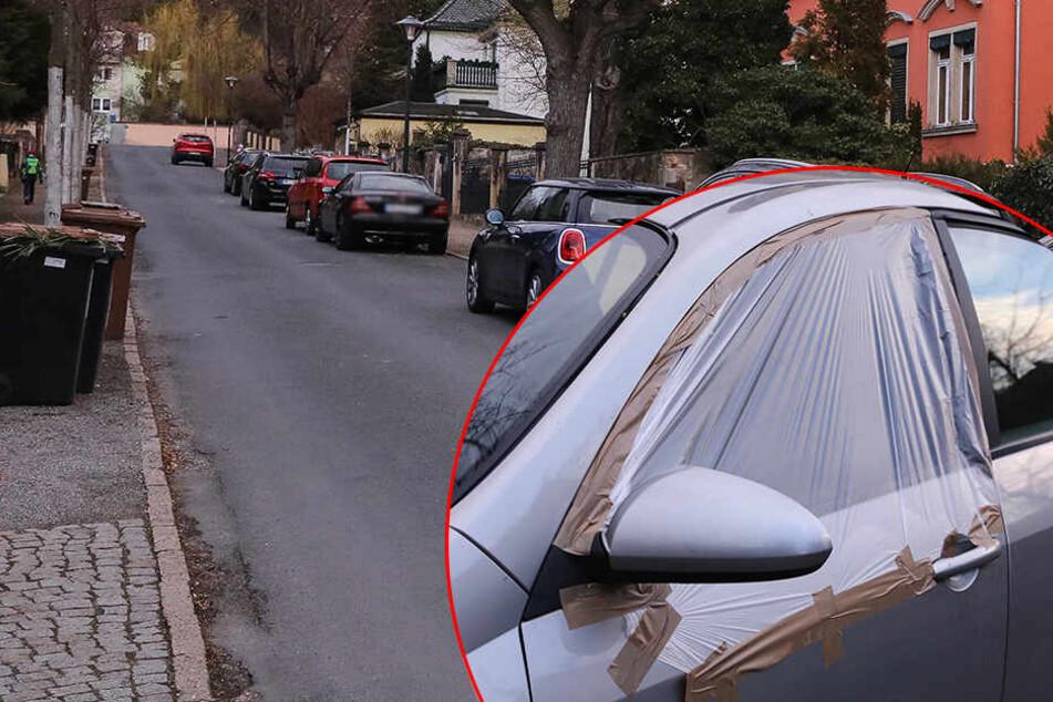 Vandalen in Radebeul unterwegs! Seitenscheiben bei 14 Autos zerstört