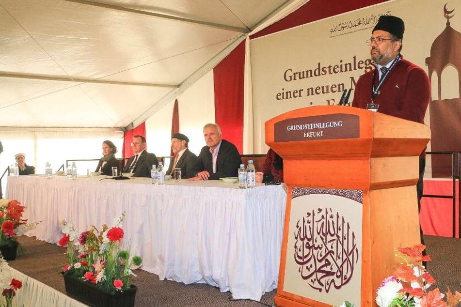 Mit einem Festakt wurde die Grundsteinlegung der neuen Moschee gefeiert.