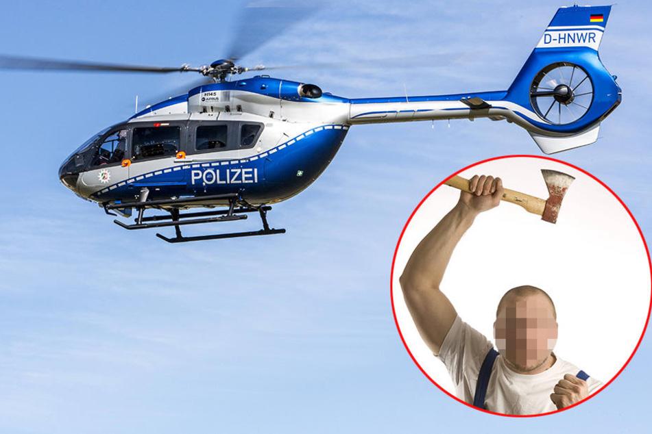 Der Polizeihubschrauber entdeckte den 30-jährigen Versmolder (Symboldbild).