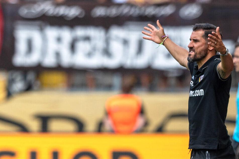 Der Einpeitscher an der Seitenlinie: Dynamo-Coach Cristian Fiel lebt seiner Mannschaft Emotionen und Leidenschaft vor.