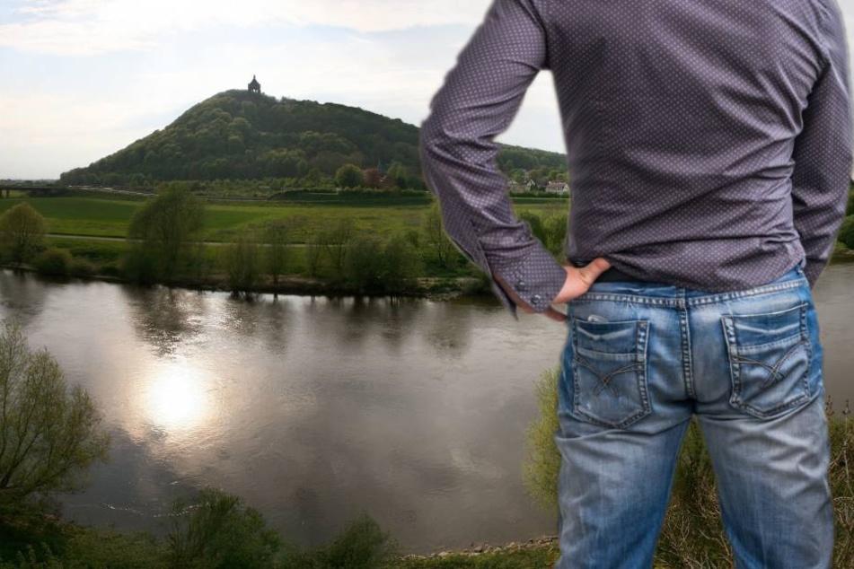 Mann stürzt beim Pinkeln in die eiskalte Weser
