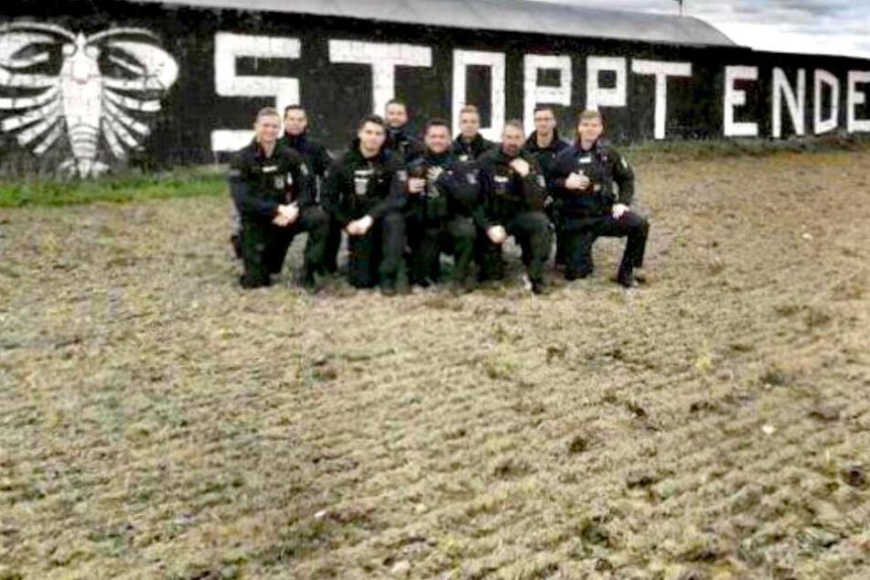 """Foto in rechtsextremem Chat: Polizisten-Protest gegen """"Ende Gelände""""?"""