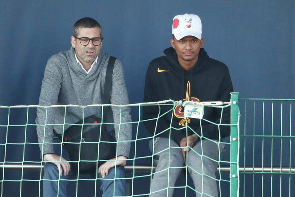Auf der Tribüne am Trainingsplatz Cottaweg saß auch der Brasilianer Luan Candido (18), der wohl im Sommer zu RB Leipzig wechselt.