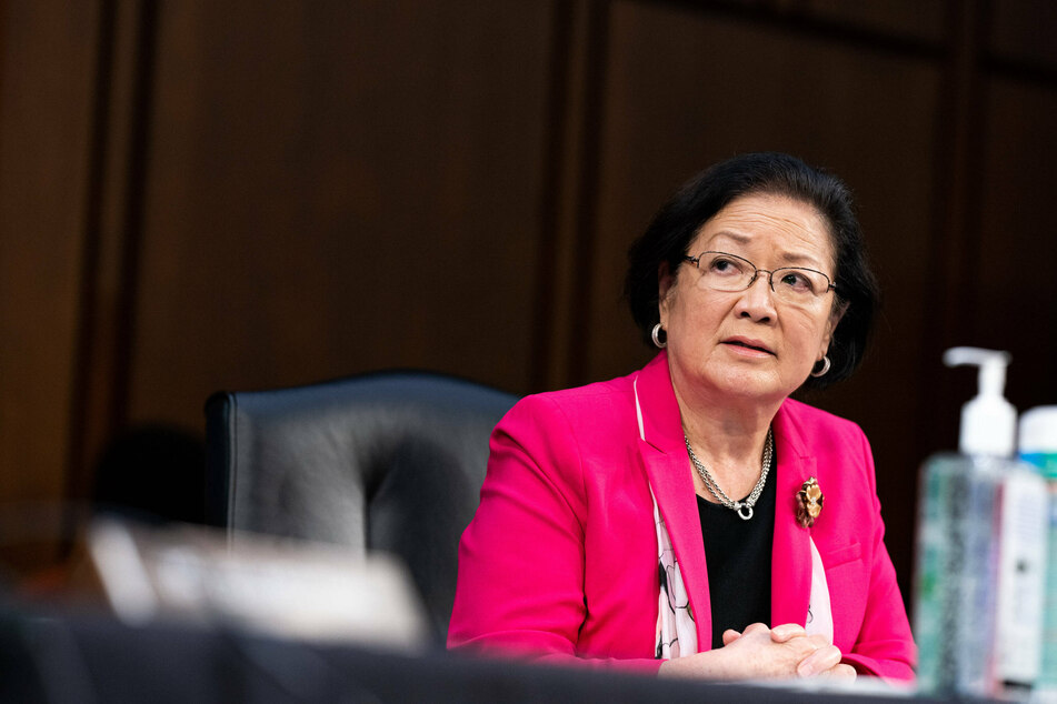 Born in Japan, Senator Mazie Hirono of Hawaii was the first Asian-American woman elected to the Senate, sworn in in January 2013.